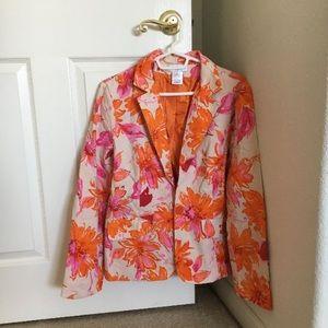 Susan Graver floral blazer